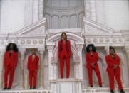 """<p>In one of the final sequences, Beyoncé forms the ultimate squad for """"My Power"""" with Busiswa, Moonchild Sanelly, Nija and Tierra Whack.</p>"""