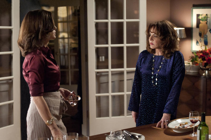 "Alicia's (Julianna Margulies) mother, Veronica (Stockard Channing) shows up requesting moral and legal support in ""A Defense of Marriage,"" the ninth episode of ""The Good Wife"" Season 4."