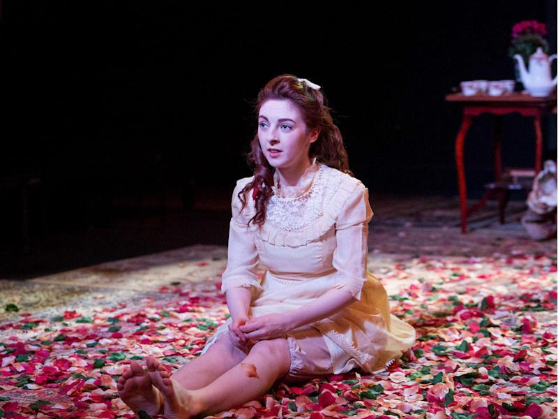 Venice van Someran as Margaret in 'Dear Brutus' at Southwark Playhouse: Mitzi de Margary