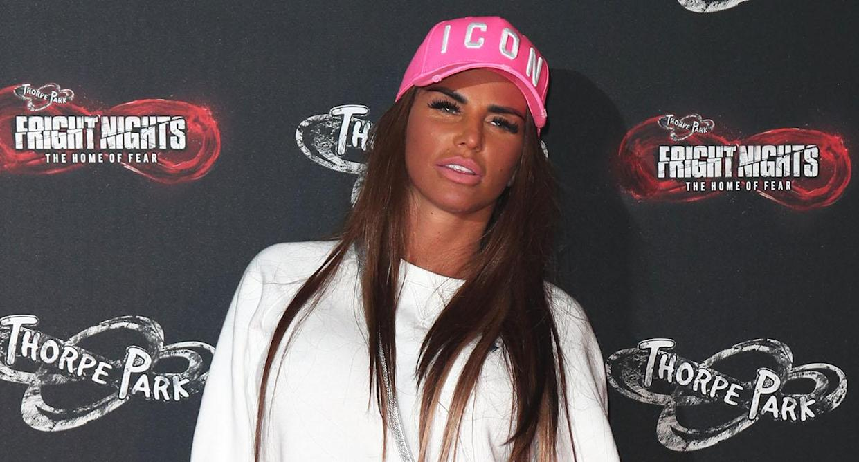 Le post de perte de poids de Katie Price sur Instagram a été interdit. (Photo: Getty)