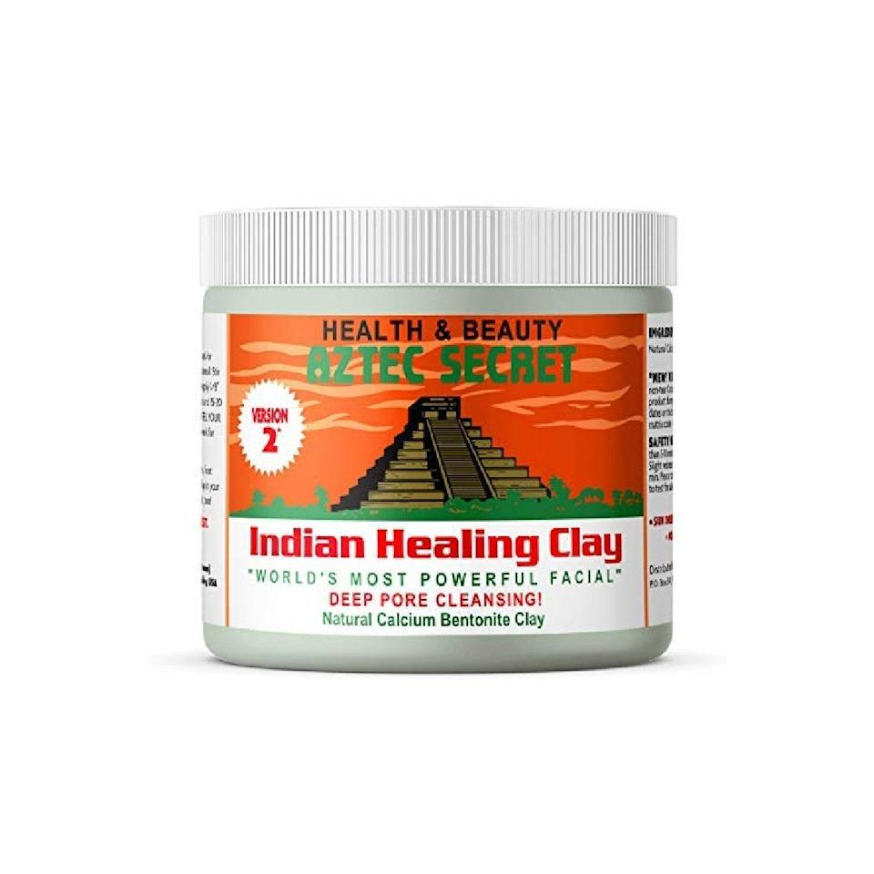"""You can always rely on this cult classic acne treatment if you're looking for an alternative to common blemish-fighting ingredients like salicylic acid or benzoyl peroxide. Mix up a spoon of the loose bentonite clay with water or apple cider vinegar to form a DIY face mask. You can also dab it on more sparingly as a spot treatment, although the brand recommends you avoid leaving it on for longer than five to 10 minutes if you have sensitive skin. $15, Amazon. <a href=""""https://www.amazon.com/Aztec-Secret-Cleansing-Original-Bentonite/dp/B081FK6L1G/"""" rel=""""nofollow noopener"""" target=""""_blank"""" data-ylk=""""slk:Get it now!"""" class=""""link rapid-noclick-resp"""">Get it now!</a>"""