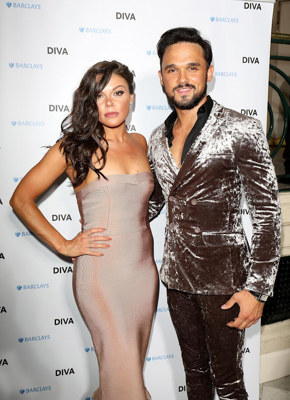 Faye Brookes and Gareth Gates attend the 2018 Diva Awards at The Waldorf Hilton Hotel on June 8, 2018 in London, England.  (Photo by Tim P. Whitby/Getty Images for Diva Magazine)