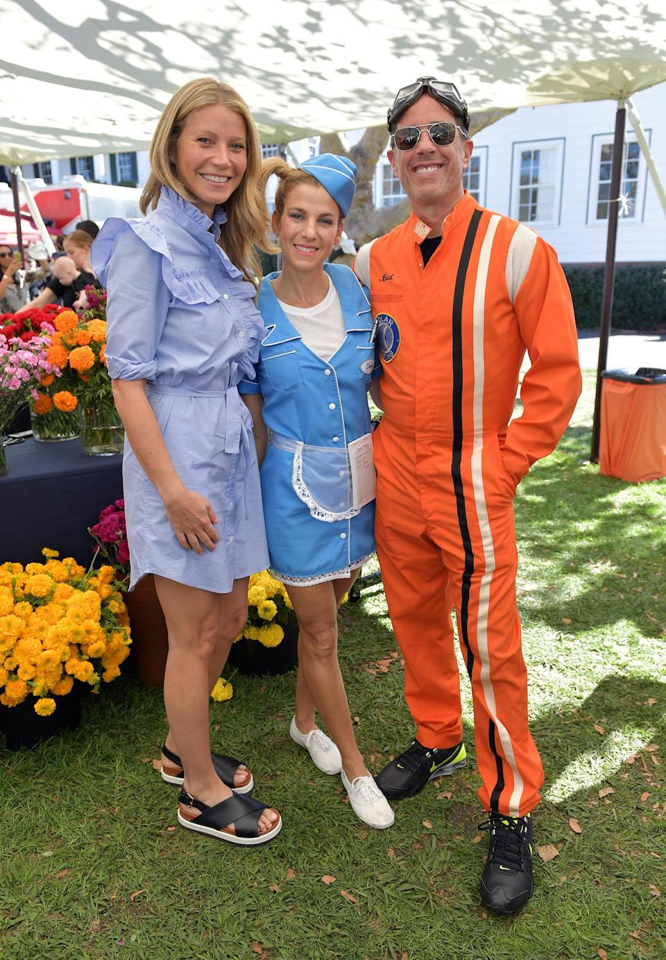 <p>At the not-so-spooky Halloween bash for Jessica Seinfeld's GOOD+ Foundation, Paltrow was one of the celebs who came out to support kids, but she chose to dress as herself. Of course, Jerry was there for his wife, sporting a racecar-driver costume. (Photo: Getty Images for GOOD+ Foundation) </p>