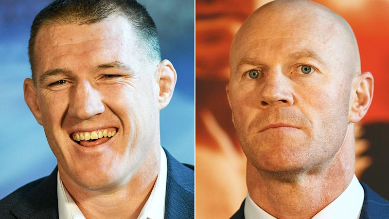 Paul Gallen has been leading the trash-talking towards Barry Hall.