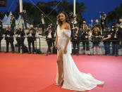 Flora Coquerel poses for photographers upon arrival at the premiere of the film 'The Velvet Underground' at the 74th international film festival, Cannes, southern France, Wednesday, July 7, 2021. (AP Photo/Vadim Ghirda)