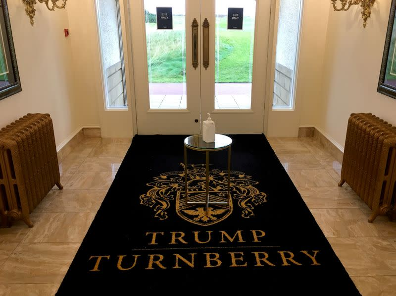 Clubhouse at Trump Turnberry golf resort in Turnberry, Scotland