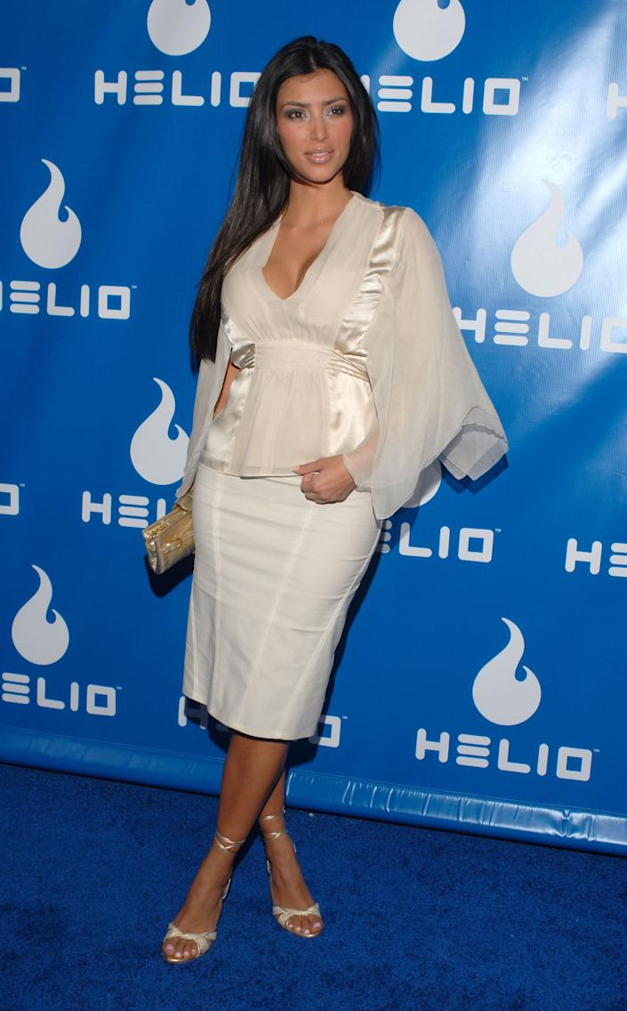 Kim Kardashian during Helio Drift Launch Party - Arrivals at 400 South La Brea in Los Angeles, CA, United States. (Photo by Mark Sullivan/WireImage)