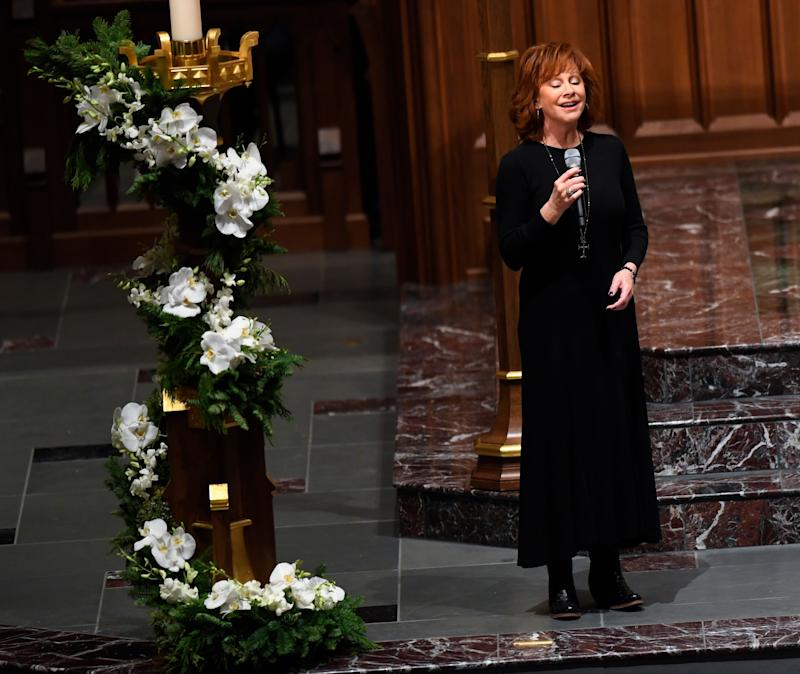 George H.W. Bush funeral: Oak Ridge Boys, Reba McEntire pay tribute with classic songs