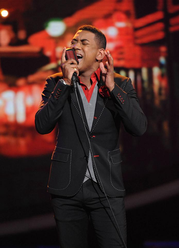 "Joshua Ledet performs ""I'd Rather Go Blind"" by Etta James on ""<a target=""_blank"" href=""http://tv.yahoo.com/american-idol/show/34934"">American Idol</a>."""