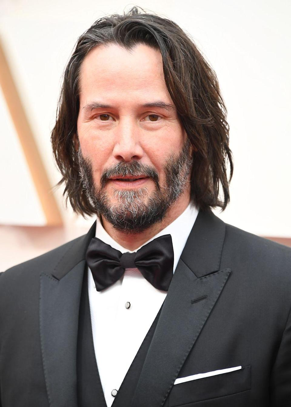 """<p>To this date, <strong>Keanu Reeves</strong> has over 100 <a href=""""https://www.imdb.com/name/nm0000206/"""" rel=""""nofollow noopener"""" target=""""_blank"""" data-ylk=""""slk:actor credits"""" class=""""link rapid-noclick-resp"""">actor credits</a> to his name, most of them being movie roles. His latest projects include playing Ted in <em>Bill & Ted Face the Music</em>, voicing Sage in <em>The SpongeBob Movie</em><em>: Sponge on the Run</em> and playing himself in Netflix and Good Universe's <em>Always Be My Maybe.</em> Keanu was born in Lebanon, but his dad was Native Hawaiian, British, Portuguese and Chinese. The actor's first name actually means """"cool breeze over the mountains"""" in Hawaiian.</p>"""