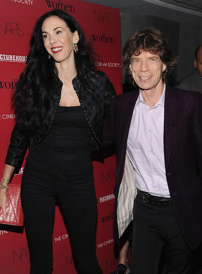 "<a href=""http://movies.yahoo.com/movie/contributor/1800063442"">Mick Jagger</a> and guest at the New York City Cinema Society Screening of <a href=""http://movies.yahoo.com/movie/1809926850/info"">The Women</a> - 09/11/2008"