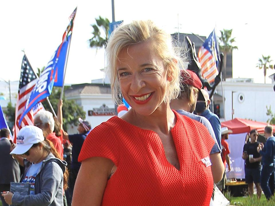 Katie Hopkins in Los Angeles, California on 24 October (GC Images via Getty)