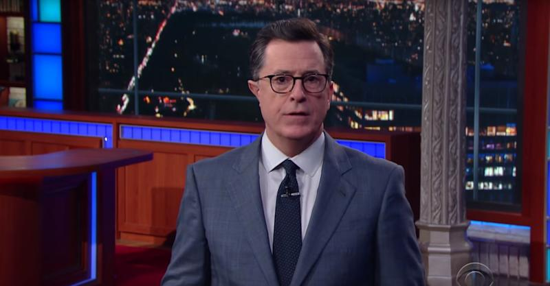 Colbert thanks Trump: Response to shooting 'gives us hope'