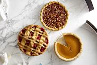"<p>There's nothing better than a homemade pie recipe to finish a special holiday meal. And while a more rustic sweet treat can still taste delicious, learning how to crimp pie crust will wow your guests and create a bakery-worthy dessert every time. Once you've found your favorite <a href=""https://www.goodhousekeeping.com/food-recipes/g32256776/baking-recipes/"" rel=""nofollow noopener"" target=""_blank"" data-ylk=""slk:baking recipe"" class=""link rapid-noclick-resp"">baking recipe</a> (apple, pecan, pumpkin, banana cream, it's entirely up to you!), made the <a href=""https://www.goodhousekeeping.com/preview/eyJpZCI6ImM4NjE3ZjdmLTMxMzktNDE1Mi04ZDZhLTk1NjRjZmExYThhMCIsInR5cGUiOiJjb250ZW50IiwidmVyc2lvbiI6MCwidmVyc2lvbmVkIjpmYWxzZSwidmVyc2lvbl9jcmVhdGVkX2F0IjoiIn0=/"" rel=""nofollow noopener"" target=""_blank"" data-ylk=""slk:perfect flaky pie crust recipe"" class=""link rapid-noclick-resp"">perfect flaky pie crust recipe</a>, prepped your fillings and added them to a rolled crust, it's time to top off your creation. Learning how to shape pie crust edges turns any average recipe into a show-stopping tread, perfect for a Thanksgiving Dessert Spread, for after a <a href=""https://www.goodhousekeeping.com/holidays/christmas-ideas/g29073023/easy-christmas-dinner-ideas/"" rel=""nofollow noopener"" target=""_blank"" data-ylk=""slk:delicious Christmas dinner"" class=""link rapid-noclick-resp"">delicious Christmas dinner</a>, or to make any weeknight dinner extra special.<strong><br><br>So how do you finish the edge of a pie crust?</strong></p><p>There are plenty of techniques to utilize when you want to crimp a pie crust. We have three favorites that require pie crust crimper tools you already have on hand: A spoon and your fingers! And while it's not a necessary step to bake a delicious pie, learning how to flute pie crust adds extra elegance to your go-to <a href=""https://www.goodhousekeeping.com/holidays/thanksgiving-ideas/g1532/thanksgiving-desserts/"" rel=""nofollow noopener"" target=""_blank"" data-ylk=""slk:Thanksgiving dessert recipe"" class=""link rapid-noclick-resp"">Thanksgiving dessert recipe</a>.<br></p>"
