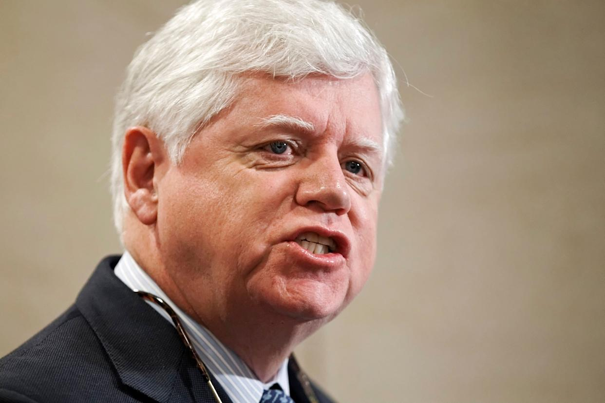 Rep. John Larson (D-Conn.) speaks on Capitol Hill in January 2012. He has recruited more than 200 co-sponsors for his Social Security 2100 bill expanding Social Security benefits. (Photo: J. Scott Applewhite/ASSOCIATED PRESS)
