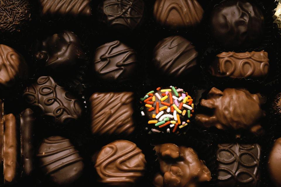 <p>Everyone should consider making plans in Idaho for Valentine's Day next year! Apparently it's illegal for a man to give his sweetheart a box of candy weighing less than 50 pounds — sounds like a sweet law to us.</p>