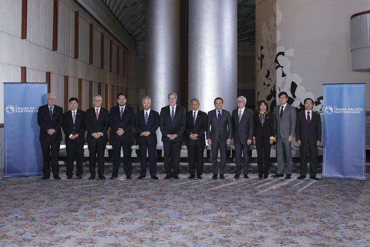"""Trans-Pacific Partnership Ministers meeting post in TPP Ministers """"Family Photo"""" in Atlanta Georgia"""