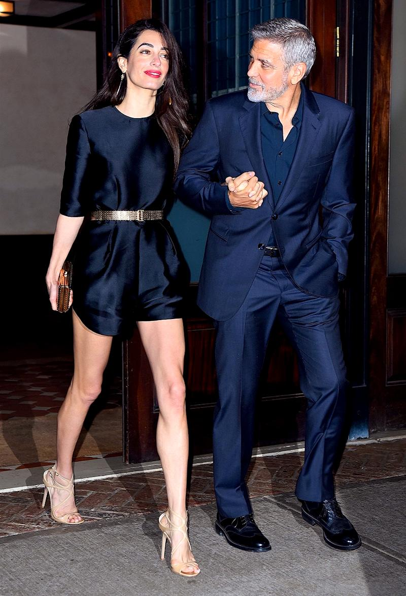 George Clooney and Amal Clooney celebrated George's birthday at Laconda Verde in New York City on May 7, 2018. (Photo: BACKGRID USA)