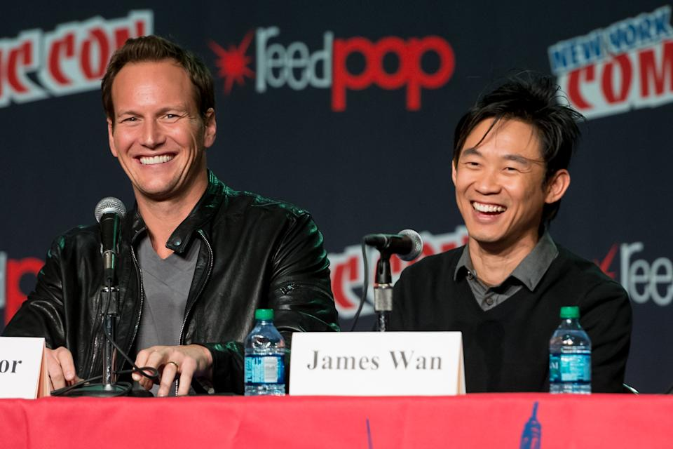 Patrick Wilson and director James Wan attend the 2012 New York Comic Con at the Javits Center on October 13, 2012. (Photo by Michael Stewart/WireImage)