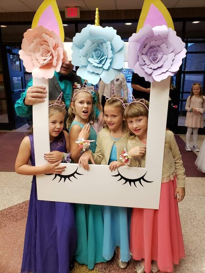From left: Aliyah Culbert, Hailey Culbert, Avery Reece, and Alivia Reece hamming it up at the dance. (Photo: Courtesy of Steve Culbert)