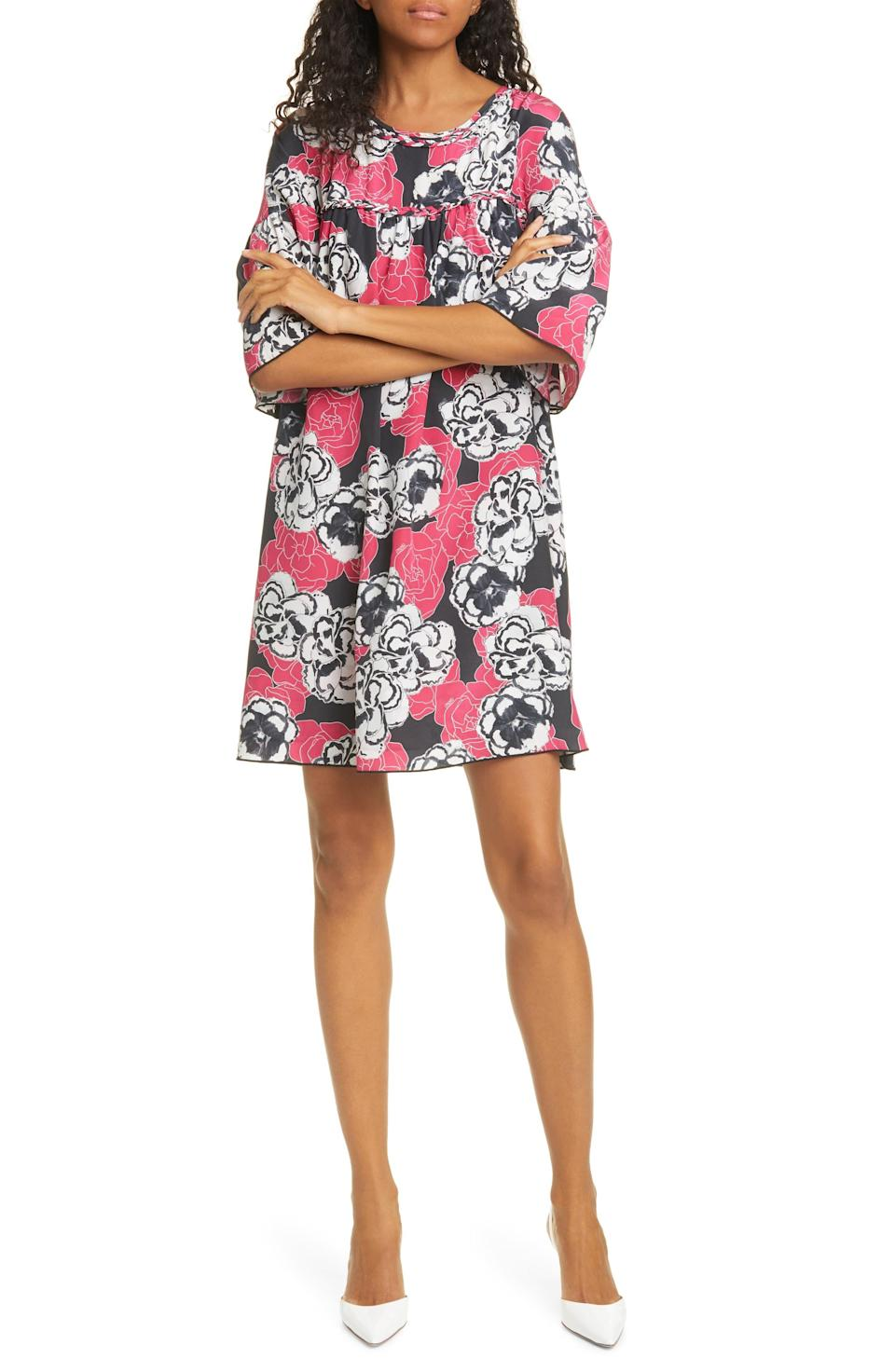 """<p><strong>DYVNA</strong></p><p>nordstrom.com</p><p><a href=""""https://go.redirectingat.com?id=74968X1596630&url=https%3A%2F%2Fshop.nordstrom.com%2Fs%2Fdyvna-floral-silk-minidress%2F5633472&sref=https%3A%2F%2Fwww.marieclaire.com%2Ffashion%2Fg32905504%2Fnordstrom-sale-june-2020%2F"""" rel=""""nofollow noopener"""" target=""""_blank"""" data-ylk=""""slk:SHOP IT"""" class=""""link rapid-noclick-resp"""">SHOP IT </a></p><p><del>$565</del><strong><br>$169.70</strong></p><p>Between its fun floral pattern and easy, breezy silhouette, we have a feeling you'll want to wear this dress all summer long.</p>"""