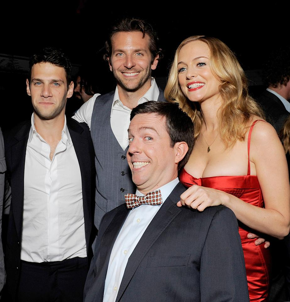 """<a href=""""http://movies.yahoo.com/movie/contributor/1808458132"""">Justin Bartha</a>, <a href=""""http://movies.yahoo.com/movie/contributor/1804751131"""">Bradley Cooper</a>, <a href=""""http://movies.yahoo.com/movie/contributor/1809704692"""">Ed Helms</a> and <a href=""""http://movies.yahoo.com/movie/contributor/1800018677"""">Heather Graham</a> at the Los Angeles premiere of <a href=""""http://movies.yahoo.com/movie/1810044687/info"""">The Hangover</a> - 06/02/2009"""