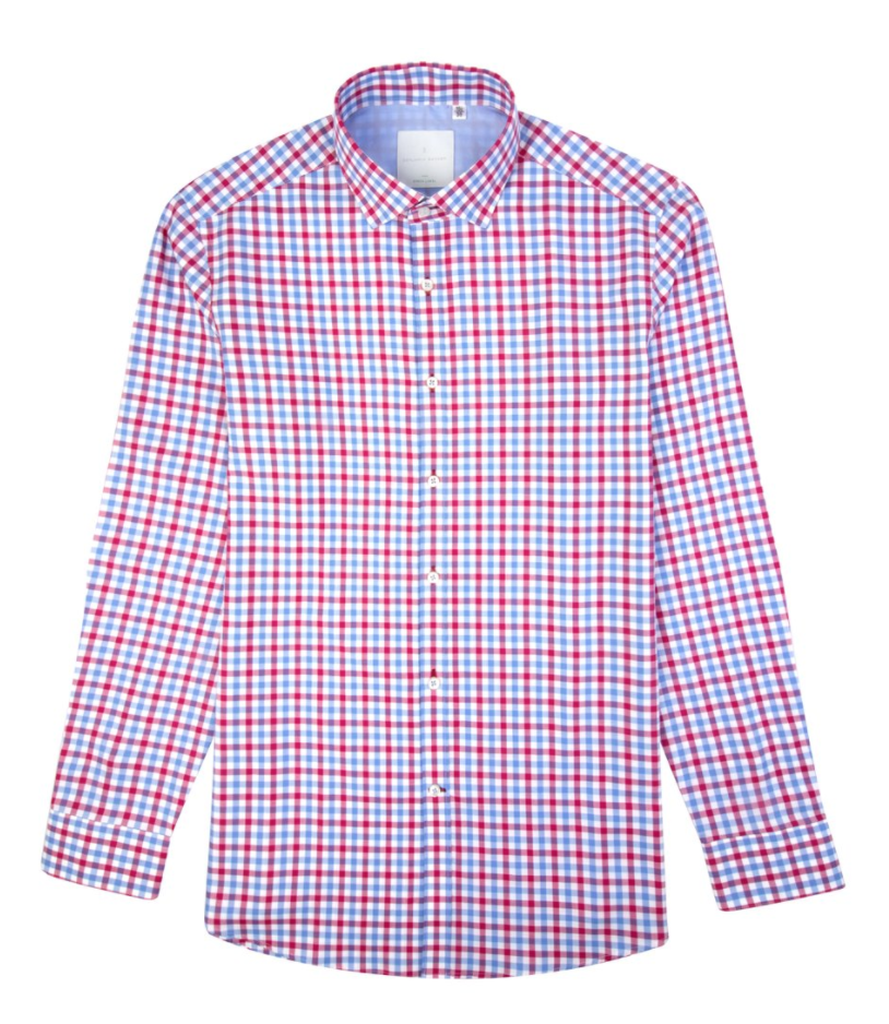 <p>Homegrown brand Benjamin Barker has a checked Oxford shirt that's perfect for days when you have both formal and casual gatherings on the same day. (Photo: Benjamin Barker) </p>