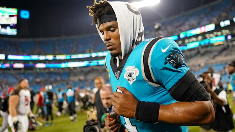 Panthers coach Matt Rhule refuses to comment on Cam Newton's status
