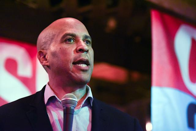 Sen. Cory Booker at a campaign event in New York City in November. (Photo: Stephanie Keith/Getty Images)