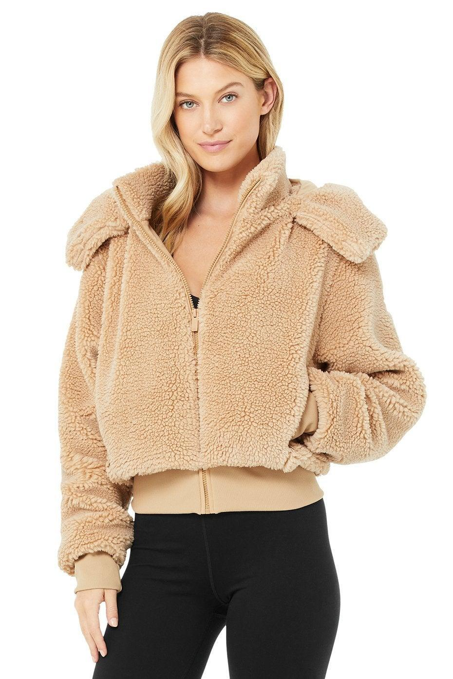 """<br><br><strong>Alo Yoga</strong> Foxy Sherpa Jacket, $, available at <a href=""""https://go.skimresources.com/?id=30283X879131&url=https%3A%2F%2Fwww.aloyoga.com%2Fproducts%2Fw4313r-foxy-sherpa-jacket-camel%3Fvariant%3D31884981436534"""" rel=""""nofollow noopener"""" target=""""_blank"""" data-ylk=""""slk:Alo Yoga"""" class=""""link rapid-noclick-resp"""">Alo Yoga</a>"""
