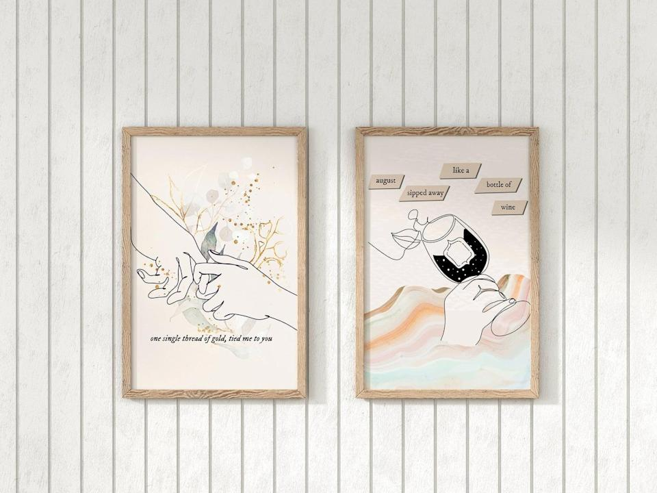 "<p>The <span>Taylor Swift <b>Folklore</b> Set of 2 Printables</span> ($16) has the lyrics to Taylor's song ""Invisible String.""</p>"