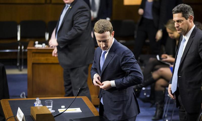 Mark Zuckerberg, the Facebook CEO, testifies before Congress.