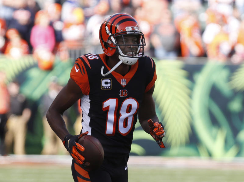 Bengals WR Green carted off in first practice