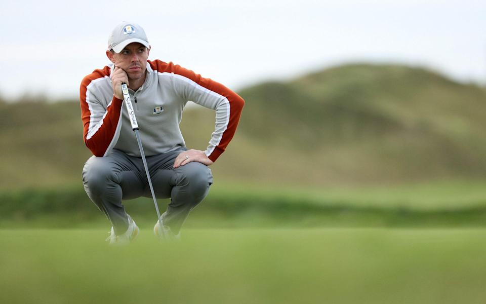 Rory McIlroy is out first for Europe. - Patrick Smith/Getty Images