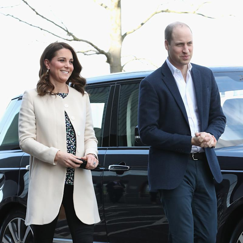 Kate Middleton Makes Her Last Public Appearance Before Giving Birth—And She's Still Wearing Heels