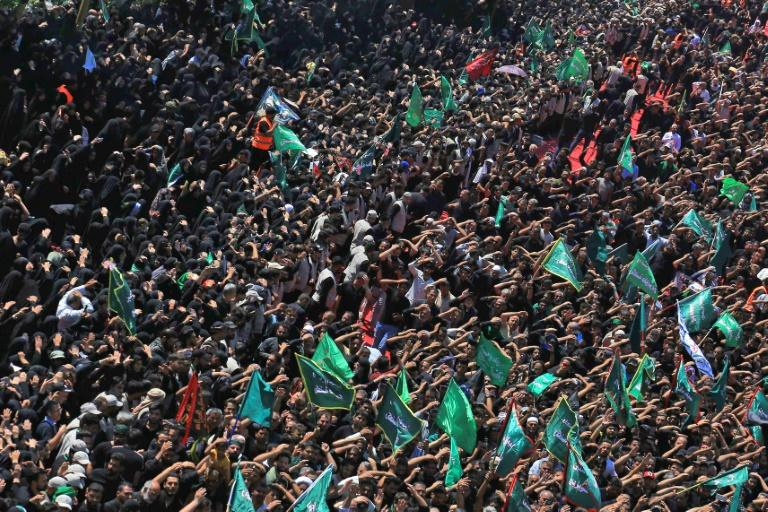 The stampede happened as pilgrims marked the Shiite holy day of Ashura