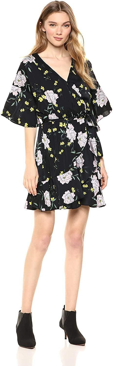 <p>This versatile <span>cupcakes and cashmere Locke Printed Crepon Wrap Dress</span> ($47) is always a good idea.</p>
