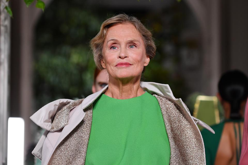Lauren Hutton recently walked the runway for Valentino during Paris Fashion Week. [Photo: Getty]
