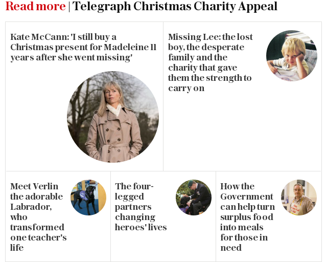 Read more | Telegraph Christmas Charity Appeal