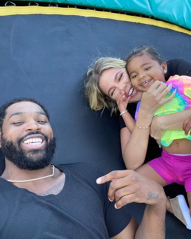 """<p>Following in her sister's footsteps, Khloe Kardashian is holed up with ex and NBA player Tristain Thompson. Since their split in February 2019, the couple have adopted a healthy co-parenting relationship for their daughter, True. According to <a href=""""https://www.etonline.com/khloe-kardashian-and-tristan-thompson-reconnecting-while-quarantining-together-source-says-147201"""" rel=""""nofollow noopener"""" target=""""_blank"""" data-ylk=""""slk:Entertainment Tonight"""" class=""""link rapid-noclick-resp""""><em>Entertainment Tonight</em></a>, Khloe and Tristain have enjoyed reconnecting.</p><p><a href=""""https://www.instagram.com/p/CB82gPKl4b7/"""" rel=""""nofollow noopener"""" target=""""_blank"""" data-ylk=""""slk:See the original post on Instagram"""" class=""""link rapid-noclick-resp"""">See the original post on Instagram</a></p>"""