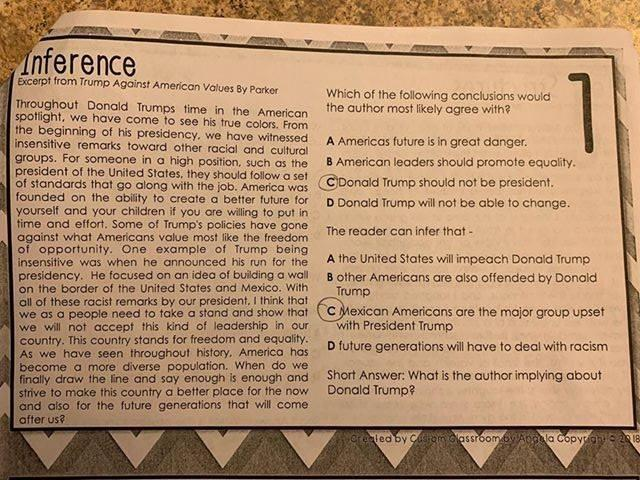 Texas state representative Briscoe Cain wants a teacher in the Goose Creek Consolidated Independent School District to be fired for an anti-Trump classroom assignment. (Photo: Facebook/Briscoe Cain)