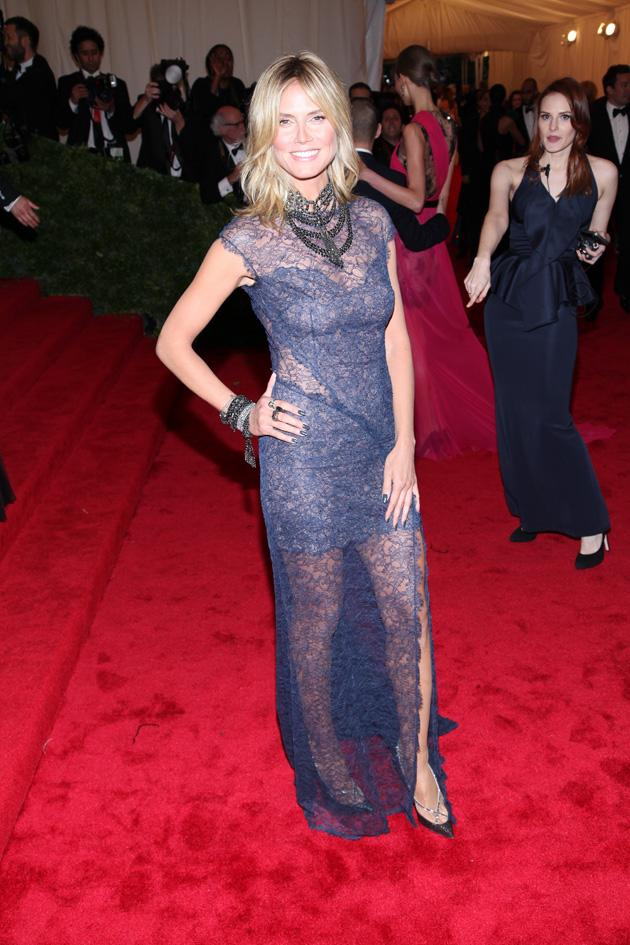 Heidi Klum went with blue for the Met Gala / WENN