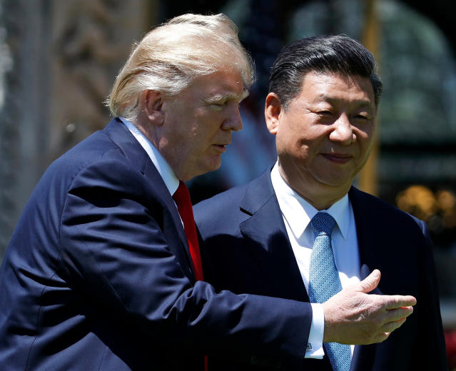 "President Donald Trump said in a tweet Sunday morning that he and Chinese president Xi Jinping (R) will ""always be friends, no matter what happens with our dispute on trade."" (AP Photo/Alex Brandon, File)"