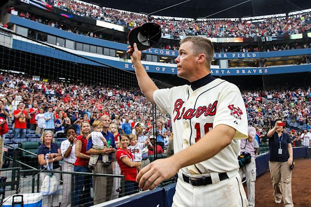 Chipper Jones was always an Atlanta fan favorite. (Getty)