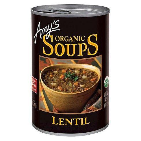 """<p>Amy's, the brand that basically got me through college, has <em>so many</em> good soups. Our tasters loved their lentil, noting that it tasted homemade, with a silky broth and perfectly tender lentils that didn't get mushy after we reheated them. </p><p><strong><em><a class=""""link rapid-noclick-resp"""" href=""""https://go.redirectingat.com?id=74968X1596630&url=https%3A%2F%2Fwww.instacart.com%2Flanding%3Fproduct_id%3D16291657%26retailer_id%3D140%26region_id%3D287858261%26gclid%3DCjwKCAiA_eb-BRB2EiwAGBnXXuK9XA0dydWGZXzal65bSHvP3QpapYqaR_u8eJlrcBH999TJM0kQBxoCoaMQAvD_BwE&sref=https%3A%2F%2Fwww.redbookmag.com%2Flife%2Fg35431452%2Fbest-store-bought-soups%2F"""" rel=""""nofollow noopener"""" target=""""_blank"""" data-ylk=""""slk:BUY NOW"""">BUY NOW</a> Amy's Organic Lentil Soup, $3</em></strong></p>"""