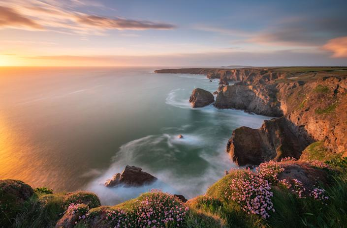 Bedruthan Steps, Cornwall. (Photo: Alessio Putzu/Caters News)