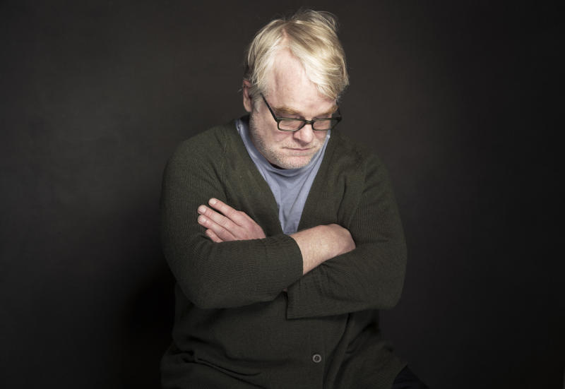"""CORRECTS SPELLING OF FIRST NAME TO PHILIP INSTEAD OF PHILLIP - In this Jan. 19, 2014 photo, Philip Seymour Hoffman poses for a portrait at The Collective and Gibson Lounge Powered by CEG, during the Sundance Film Festival, in Park City, Utah. Hoffman, who won the Oscar for best actor in 2006 for his portrayal of writer Truman Capote in """"Capote,"""" was found dead Sunday, Feb. 2, 2014, in his New York apartment. He was 46. (Photo by Victoria Will/Invision/AP)"""