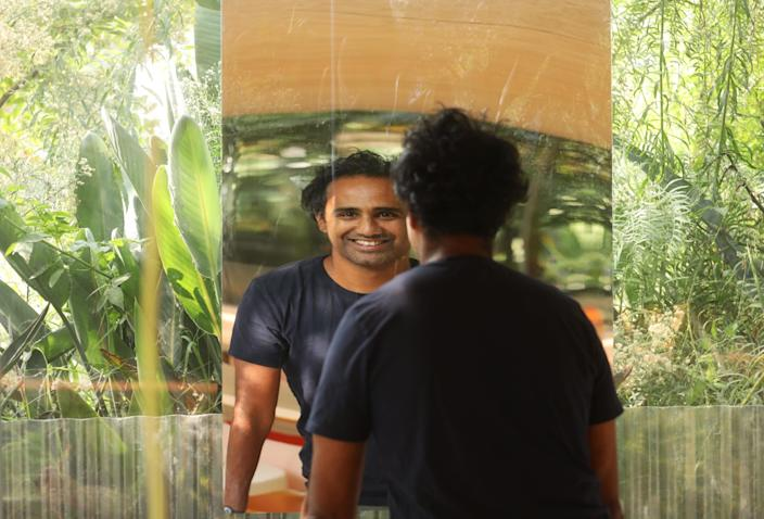 "Rohan Silva, cofounder of Second Home, inside one of company's garden studios. <span class=""copyright"">(Genaro Molina / Los Angeles Times)</span>"