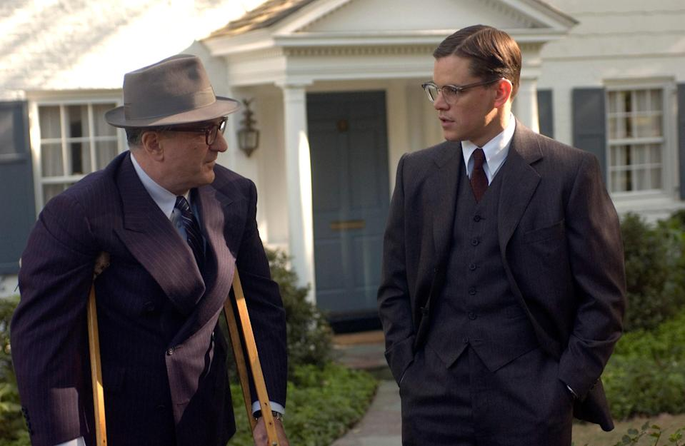 """<p>Matt Damon tests his talents again at playing a spy in this Robert De Niro flick. In this one, Damon stars as Edward Wilson, one of the founding members of the CIA. Throughout the semibiographical film, we get to see the birth of the agency through Edward's eyes.</p> <p><a href=""""https://www.amazon.com/Good-Shepherd-Matt-Damon/dp/B000P42A22"""" rel=""""nofollow noopener"""" target=""""_blank"""" data-ylk=""""slk:Available to rent on Amazon Prime Video"""" class=""""link rapid-noclick-resp""""><em>Available to rent on Amazon Prime Video</em></a></p>"""