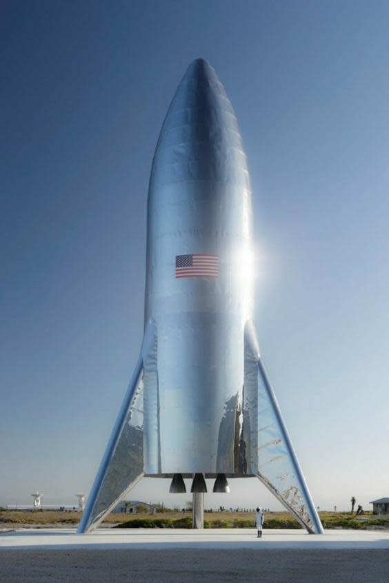 Elon Musk shared a picture of what the Starship rocket will look like (Elon Musk)